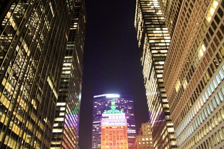 Park Avenue by night in New York City