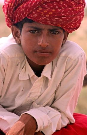 Thar desert, India, July 28, 2009 - Boy in the Thar desert