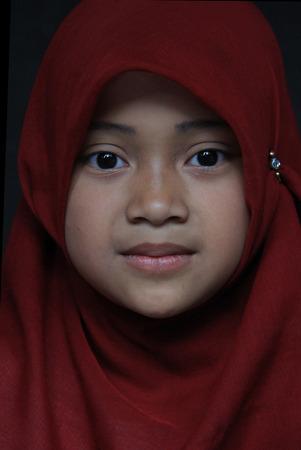 Malang, Indonesia, September 18, 2014 - Little Girl in Malang