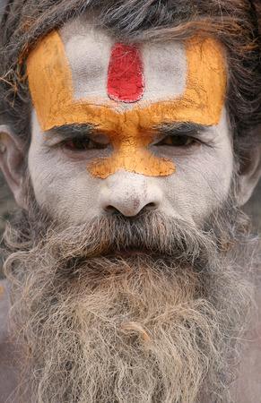 sadhu: Pashupatinath, Nepal, July 27, 2009 - Sadhu in Pashupatinath
