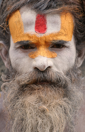 Pashupatinath, Nepal, July 27, 2009 - Sadhu in Pashupatinath