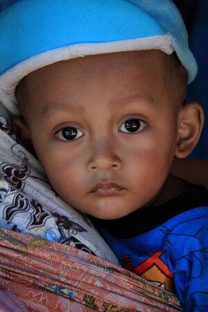 Yogyakarta, Indonesia, September 17th, 2013 - Little Boy in Yogyakarta Editorial