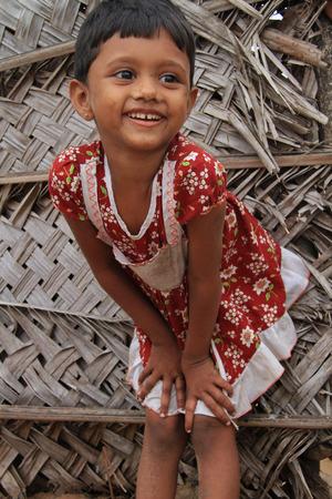Chilaw, Sri Lanka, July 27, 2012 - Little Girl in Sri Lanka