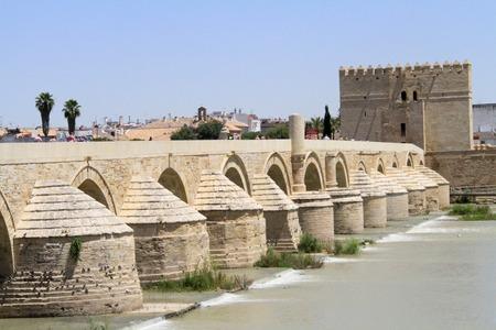 Roman bridge in Cordoba Stock Photo