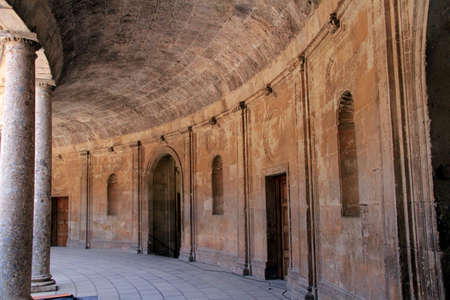 Nasrid palace at Alhambra in Spain Editorial