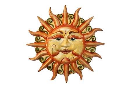 soleil souriant: le soleil Banque d'images