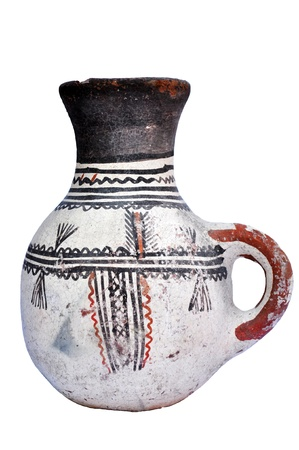 Vaso antico con raffigurazioni Archivio Fotografico
