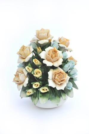 ceramica: Composizione floreale porcellana di Capodimonte