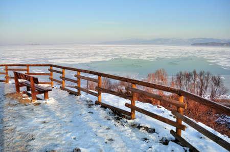 Frozen lake, Italy Stock Photo - 12774351