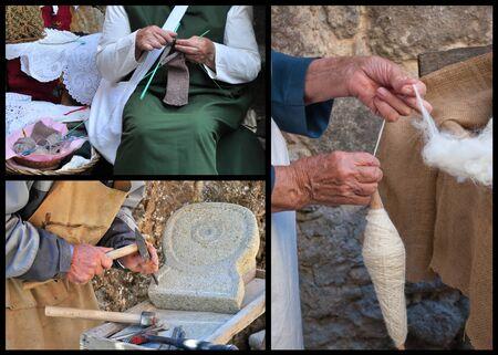 Craftsmanship. Hands detail photo