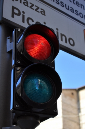 Traffic light for restricted area access Stock Photo - 17205676