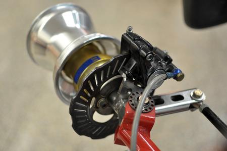 go kart: Go kart disc brakes Stock Photo
