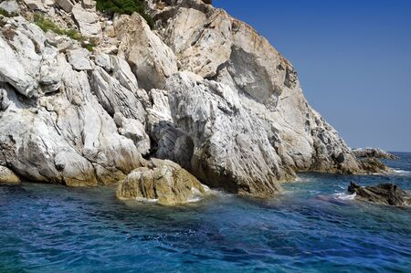 elba: Elba Island - view of Blue Grotto Stock Photo