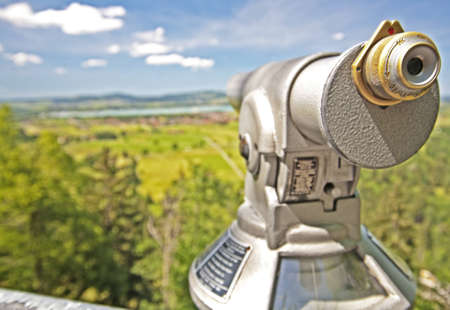 viewing: Up close with a sight seeing scope in Germany Stock Photo