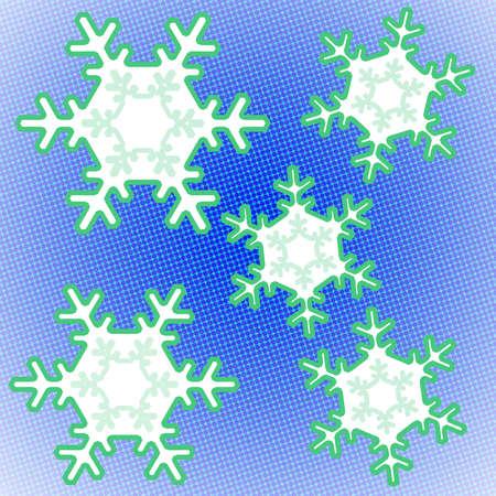 雪の結晶をポップします。