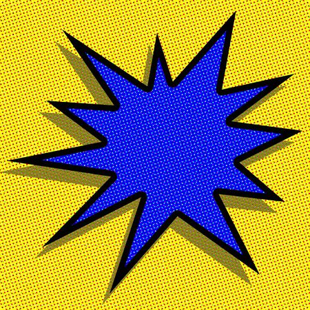 blank starburst abstract in the pop art style photo