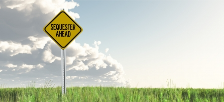 sequester: Sequester Ahead Yield Sign