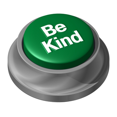 be: Be Kind Green Button