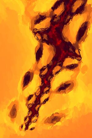 Abstracte Painterly Celbiologie achtergrond Oranje Geweven