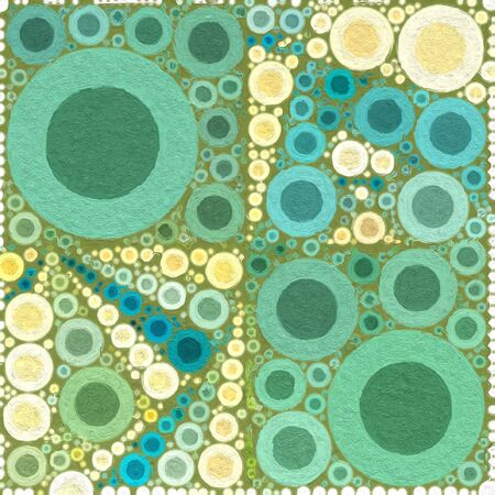 painterly: Abstract Painterly Bubbles Background Green White Textured Stock Photo