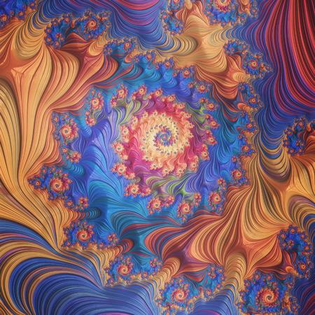 painterly: Abstract Painterly Blue Orange Background Stock Photo