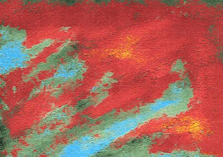 painterly: Abstract Painterly Red Teal Background