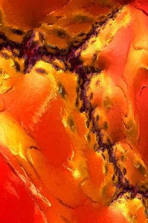 painterly: Abstract Painterly Red Brown Cell Stock Photo