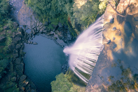 Belmore Water Falls, New South Wales. Cascading Water on Rocks and Pond. Located in a national park. Stock Photo - 123185914