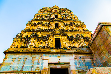 Historic building in Hampi, India Stock Photo