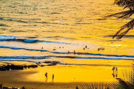 Sunset on the pacific ocean, Goa, India