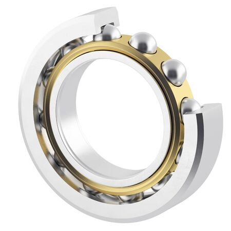Isolated realistic bearing on a white background with light scratches