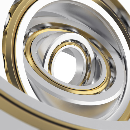 friction: Isolated realistic whirling bearing in the bearing with light scratches