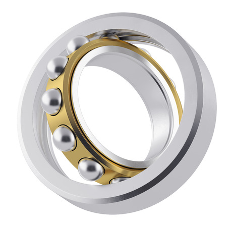 rotating parts: Metal whirling bearing with attrition Stock Photo