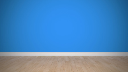 dimensionally: empty new blue interior Stock Photo
