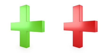 3d image of green and red cross photo