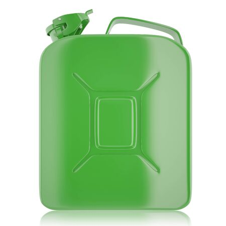 diesel: Canister for gasoline, diesel gas on isolated on white background