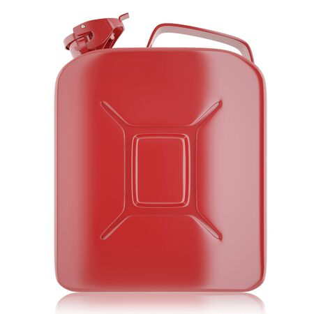 canister: Canister for gasoline, diesel gas on isolated on white background