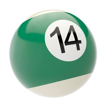 billiard ball isolated on white background. 3d illustration illustration