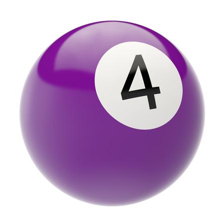 billiard ball: billiard ball isolated on white background. 3d illustration