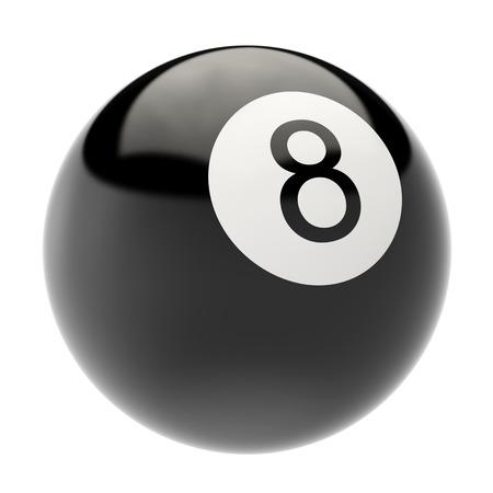 ビリヤードの球は、白い背景で隔離。3 d イラストの高解像度