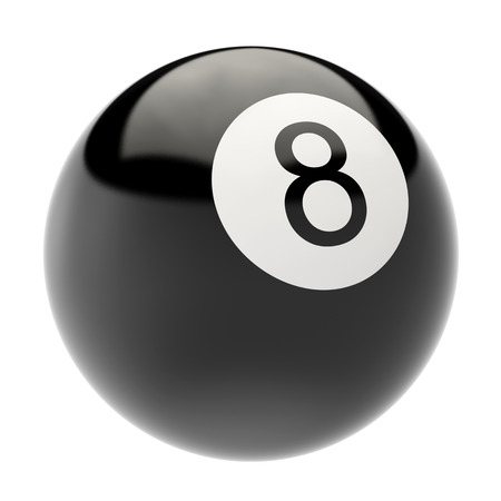 billiard ball isolated on white background. 3d illustration high resolution