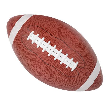 ラグビーのボールは、白い背景で隔離。3 d