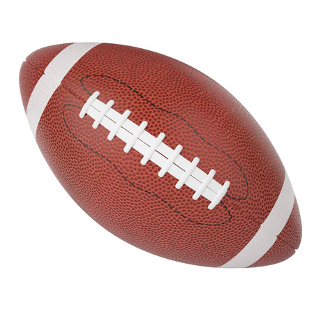 Rugby ball isolated on white background. 3d Standard-Bild