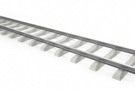 sleeper: Illustration of the railway for the train isolated on a white background. 3d
