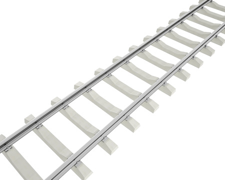 commuting: Illustration railway isolated on white background. 3d high resolution image