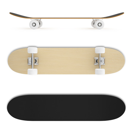 skateboard: Set illustration of a skateboard isolated on a white background