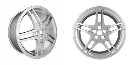 rims: Set of automotive rims isolated on white background