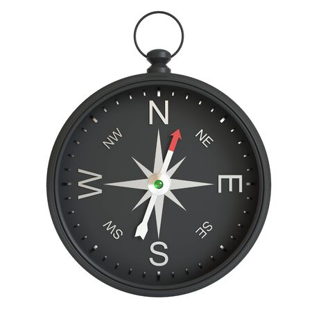 Compass isolated on white background. 3d illustration high resolution Archivio Fotografico