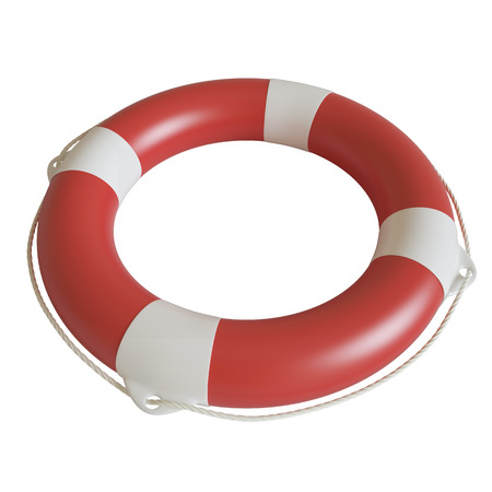 survive: Illustration lifebuoy isolated on white background. 3d high resolution image