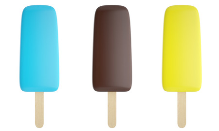 mixed nuts: Set of colorful ice cream isolated on white background